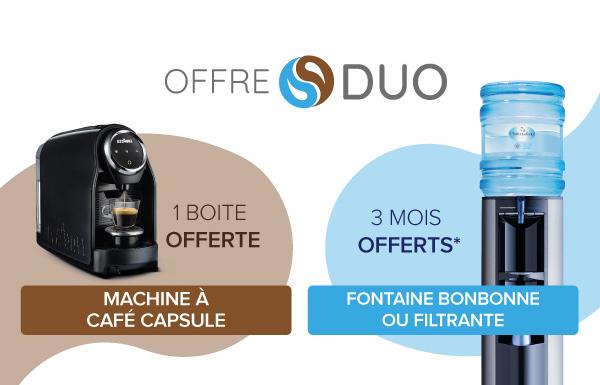 Offre DUO : Café et eau