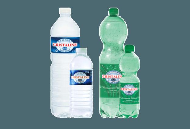 Bouteilles d'eau Cristaline