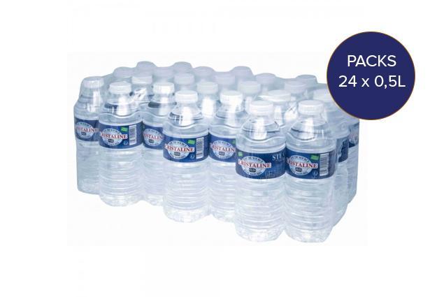Pack d'eau de source 0,5L pour entreprises